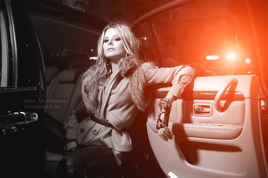 Фотосессия в автомобиле
