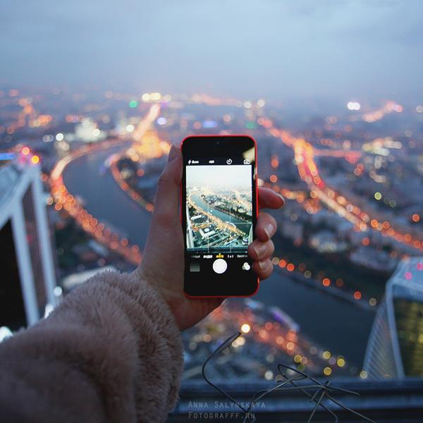 Москва. Вид сверху.