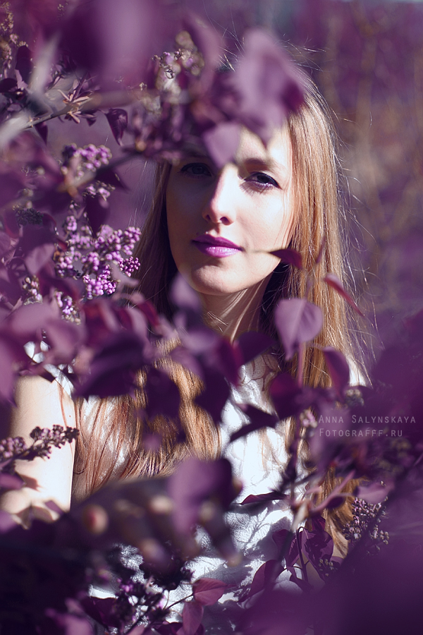 Фиолетовая фотосессия