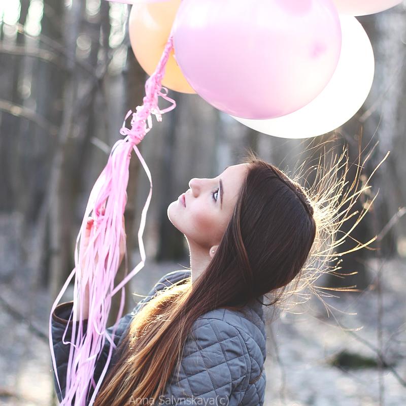 фотосессия с воздушными шарами