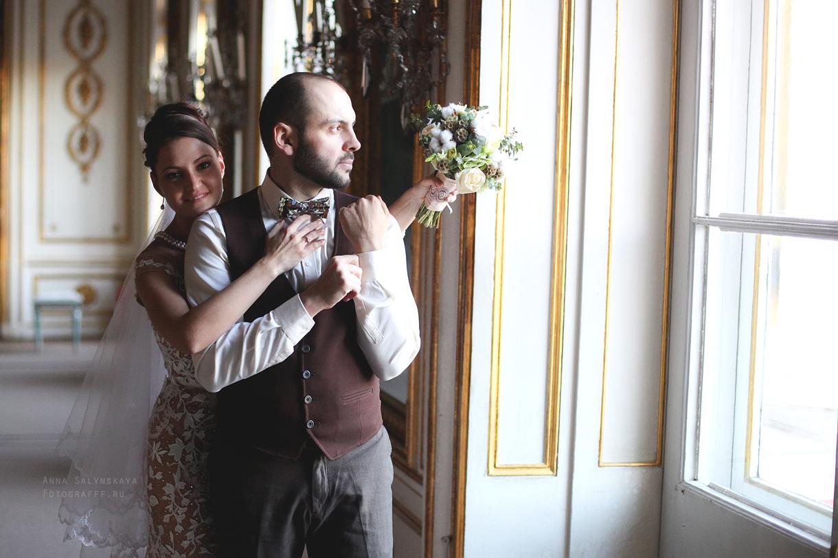 свадебная съемка во дворце