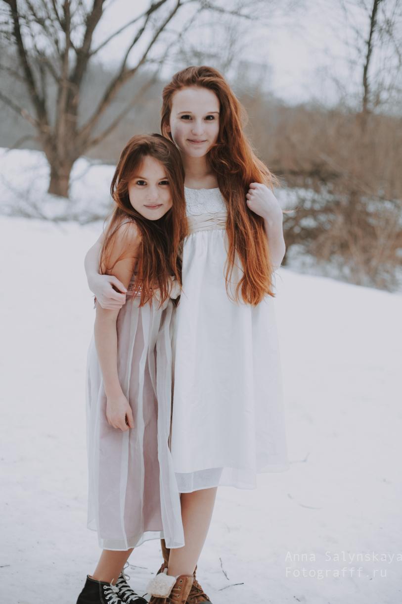 зимняя новогодняя фотосессия