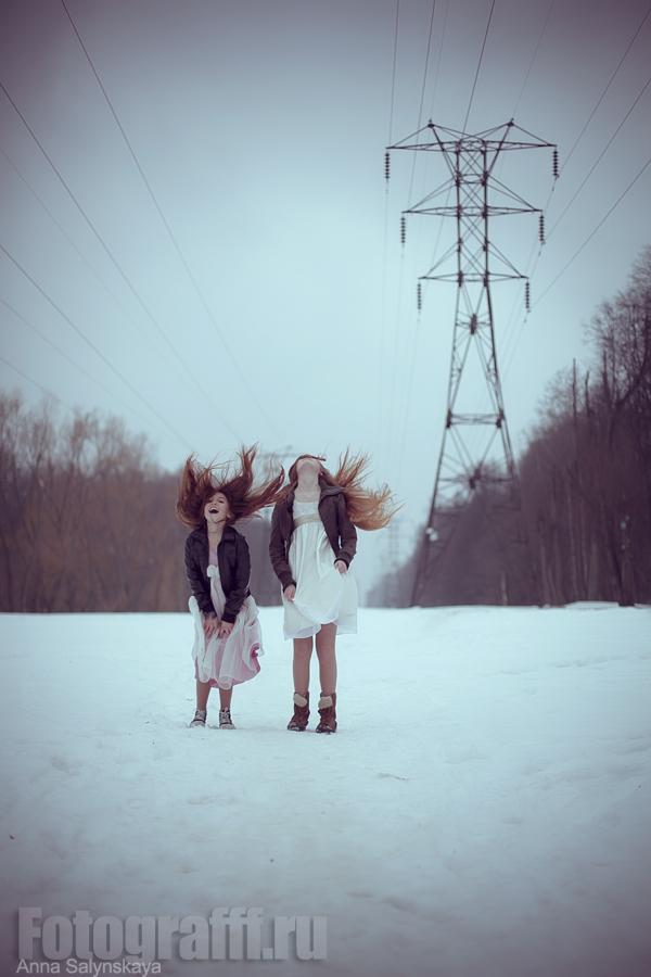 Фотосессии зимой в парке