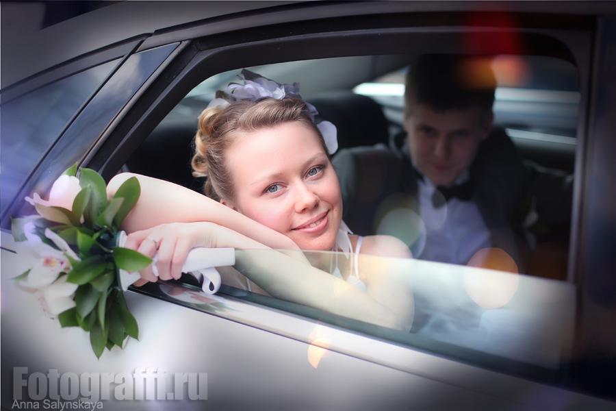 Свадебная фотосъемка, лимузин