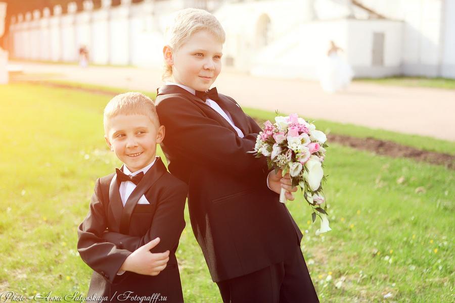 свадебная фотосессия дети