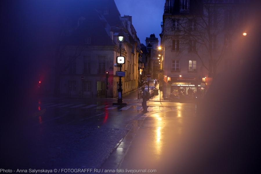 Париж в дождь