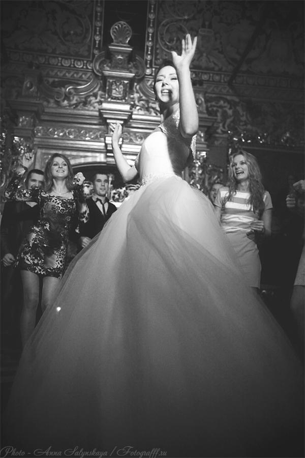 съемка свадебного танца