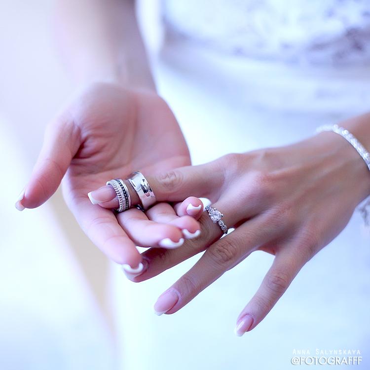 свадебное фото кольца