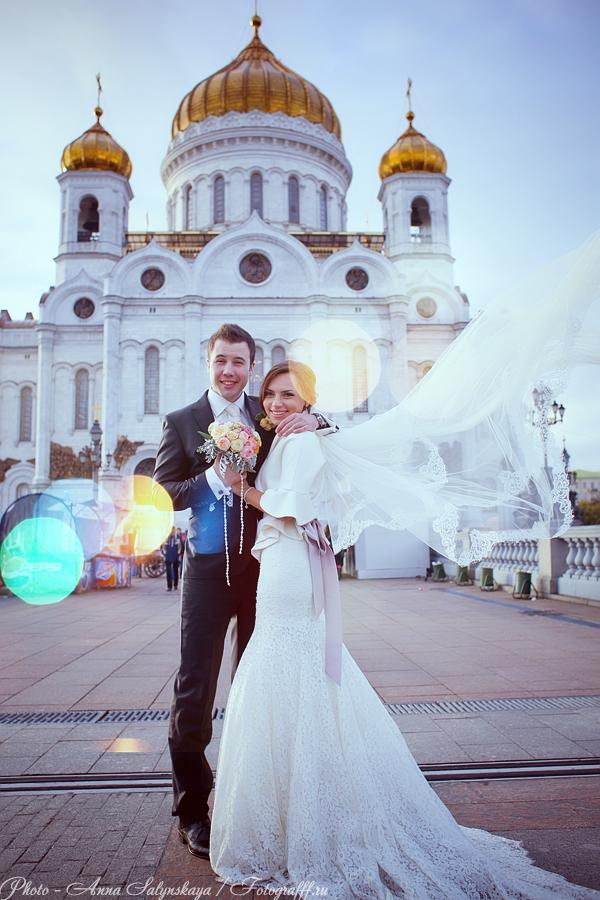 свадебная фотосессия зимой в Москве